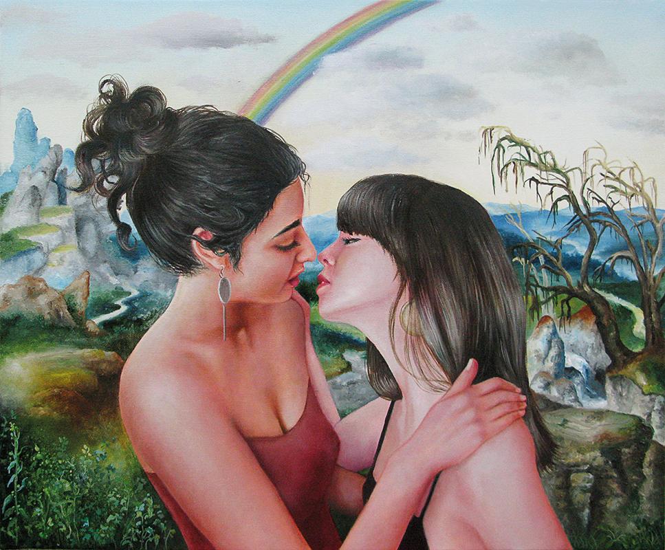 L'arc en ciel  -2011  Oil on canvas, 50 x 61cm