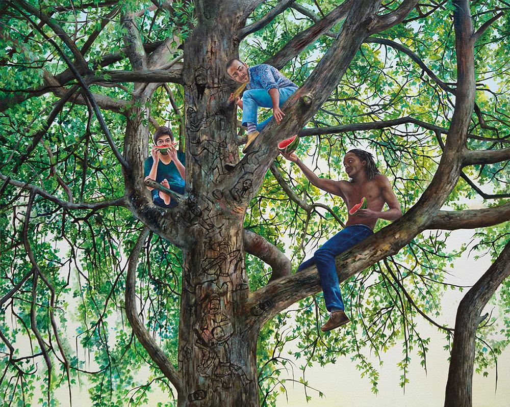 L'échapée belle - 2011  Oil on canvas, 130 x 162cm