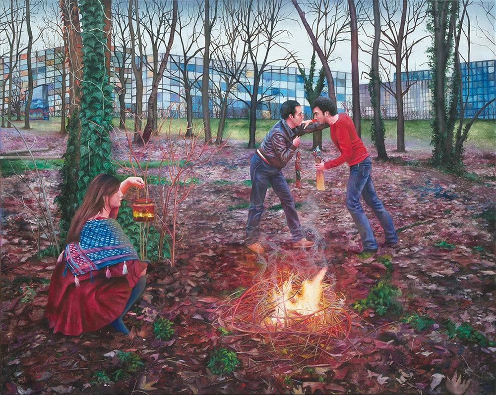 Le duel    - 2011  Oil on canvas,160 x 200cm