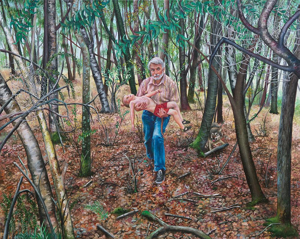 Le petit David - 2011  Oil on canvas,81 x 100cm