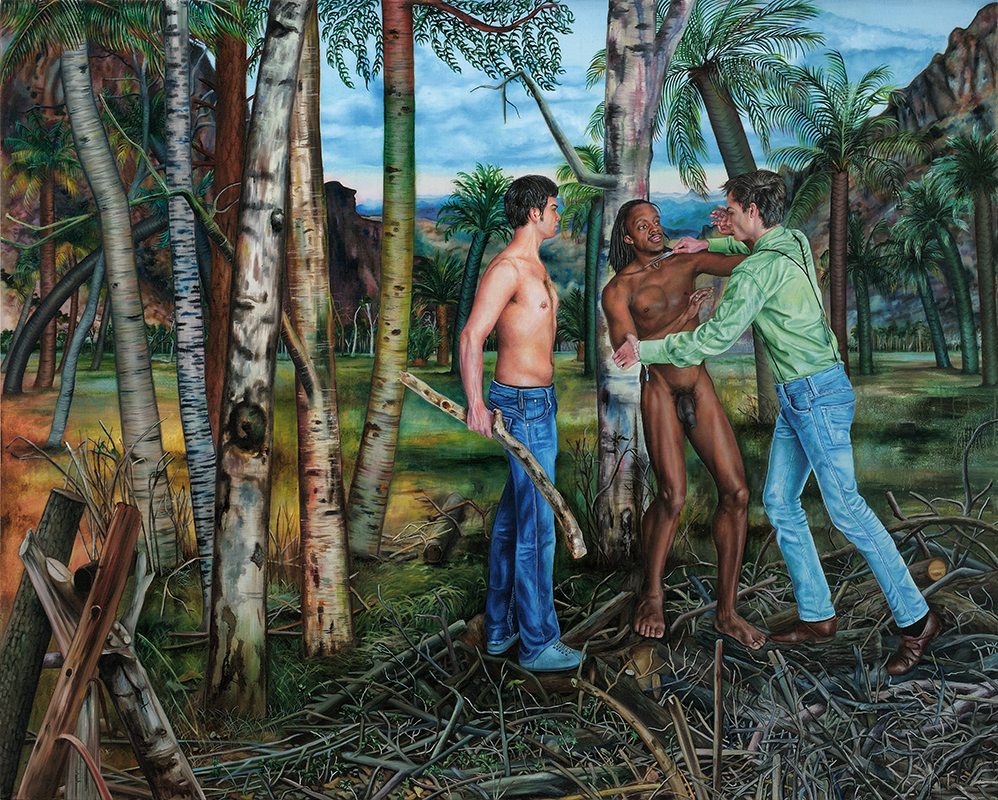 Histoires Naturelles II    - 2010  Oil on canvas, 160 x 200cm