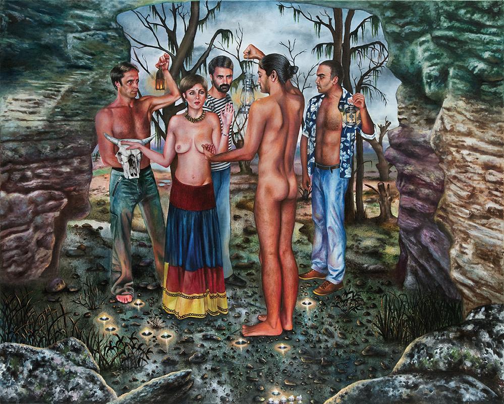 La grotte - 2010  Oil on canvas,130 x 162cm