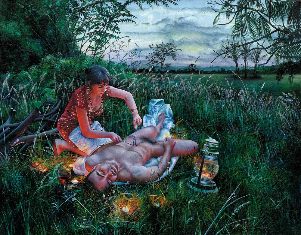 Lacryma christi - 2010  Oil on canvas,114 x 146cm