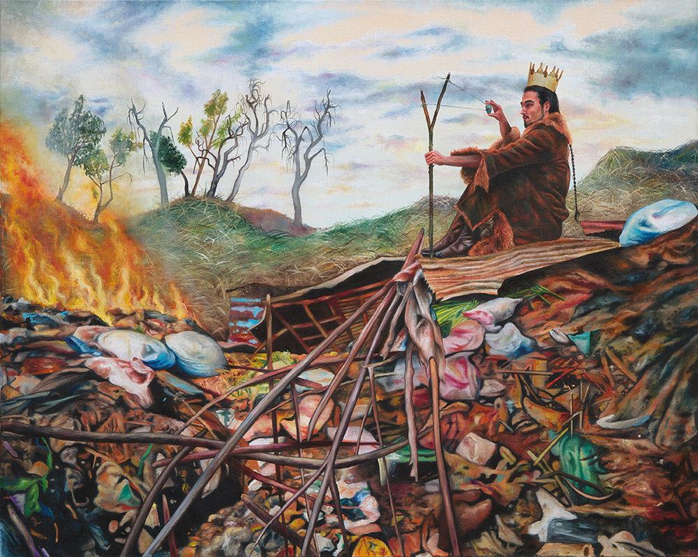 Le vent mauvais - 2010  Oil on canvas,130 x 162cm