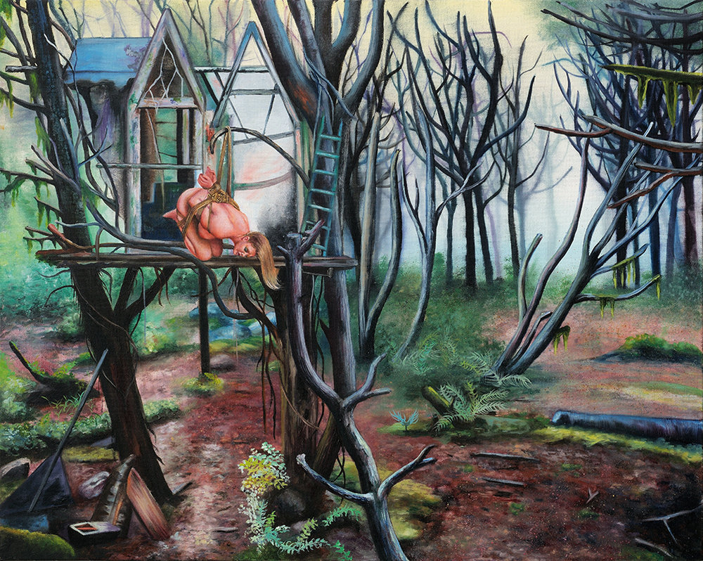La brume    -2009  Oil on canvas, 65 x 81cm