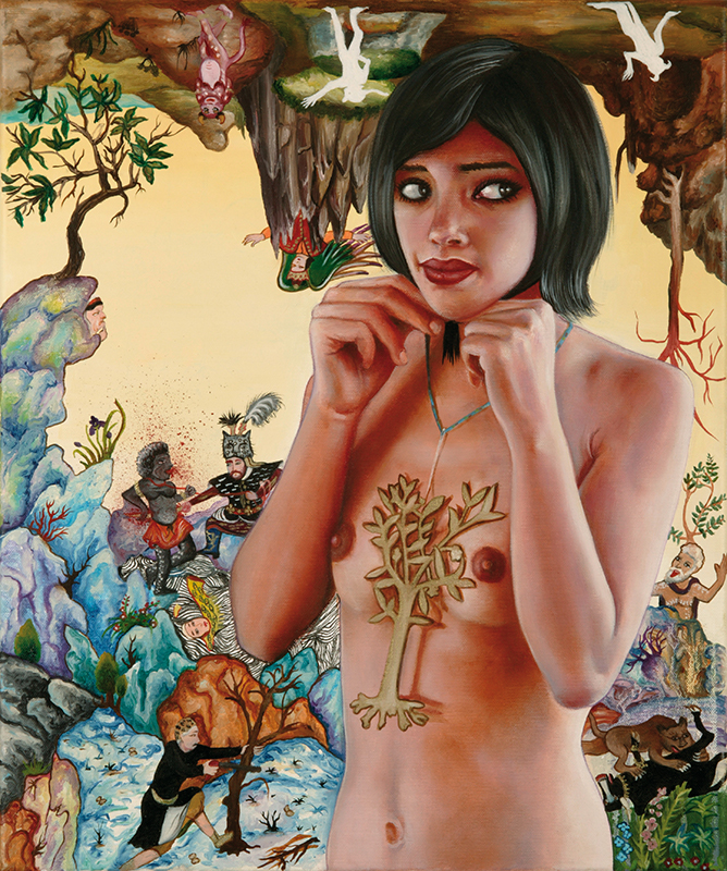 La Montagne Magique - 2009  Oil on canvas,55 × 46cm