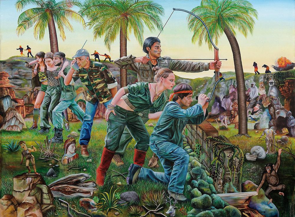 Reminisci  - 2009  Oil on canvas,185 × 250cm