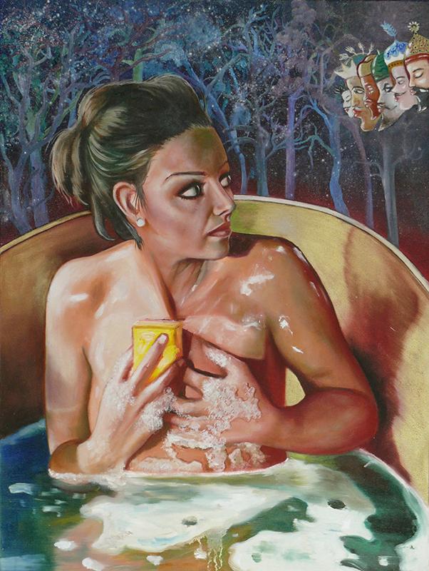 Bain de nuit -2008  Oil on canvas,60 × 45cm