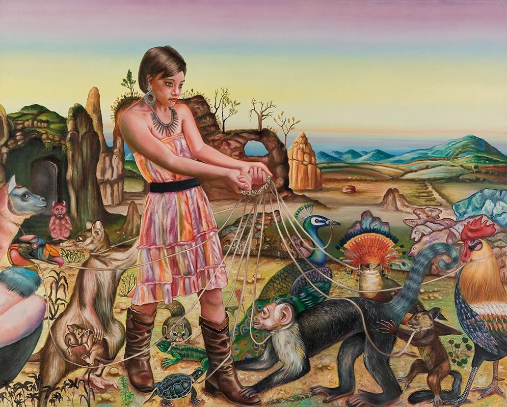 Le terre de Tina  - 2008  Oil on canvas,130 × 162cm