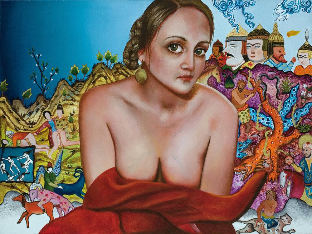 Lili    -2008  Oil on canvas, 45 × 60 cm