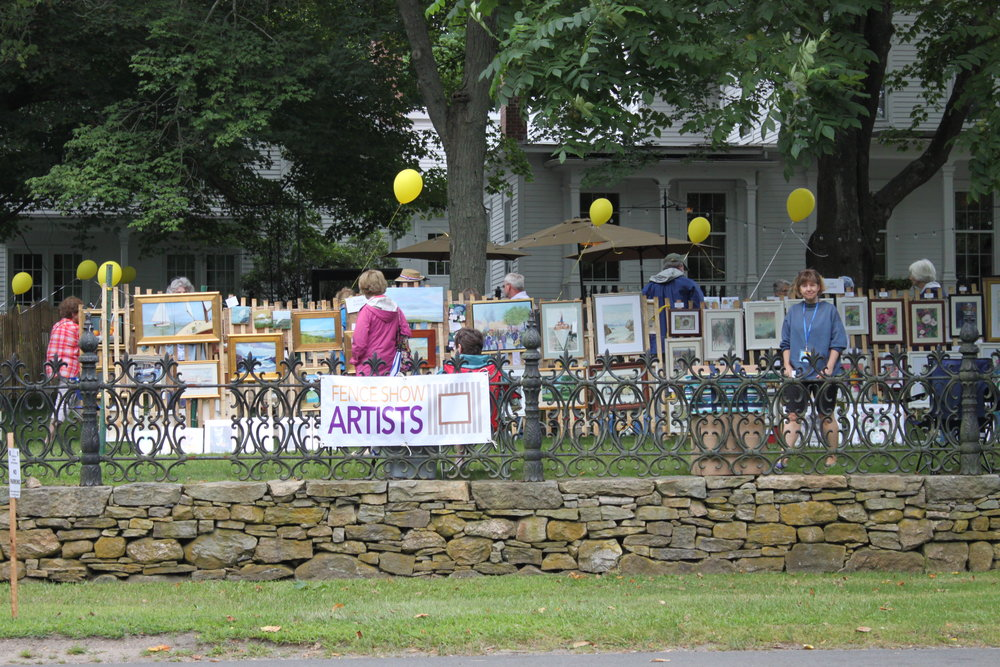 Fence Show Artists Exhibition & Sale - With a variety of medium, including watercolor, oils, and photography, the Fence Show Artists return this year on the lawn of the Old Lyme Inn (9am-4pm). Reminiscent of the