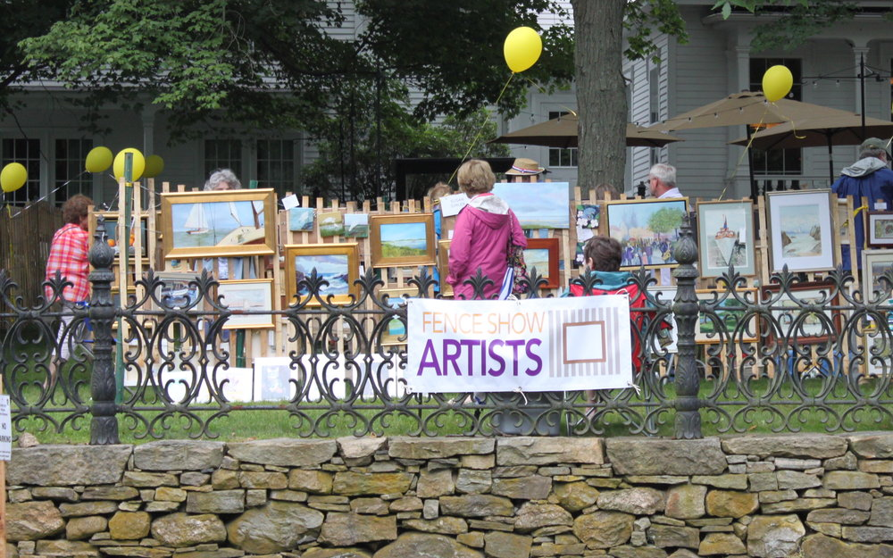 Fence Show Artists at the Old Lyme Inn.jpeg
