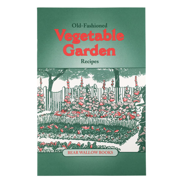 Vegetable Garden - Old-Fashioned Vegetable Garden RecipesNotes describe long ago methods of raising and preserving vegetables, but most of the recipes are quick and easy to prepare. Beans, corn, rhubarb, spinach and tomatoes are just a few of the many garden vegetables in this new book, which contains 73 recipes for soups, salads, hot and cold main and/or side dishes, pickles, relishes and baked goods.