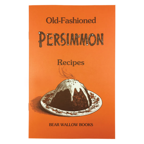 Persimmon - Old-Fashioned Persimmon RecipesHistorical notes trace persimmon cookery back to Native Americans and early settlers. Harvesting, cleaning and processing are discussed, and 64 recipes for puddings, breads, cakes, cookies, pies, salads, breakfast, ice cream, sauces and candies are included. (the original edition was Bear Wallow's first book, published in 1978.)