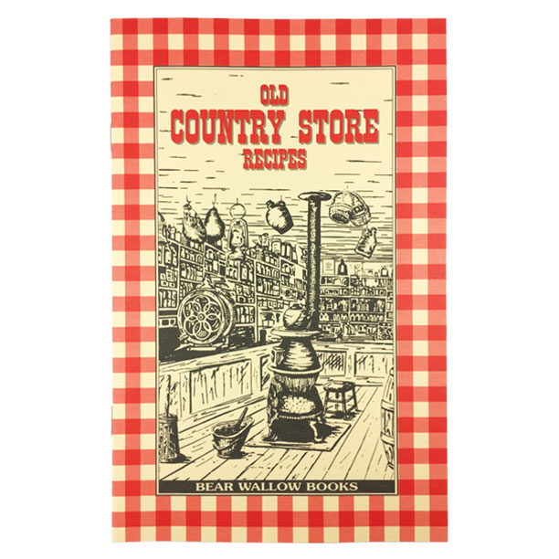 Country Store - Old Country Store RecipesHistorical notes take us back to the days when the general store was a gathering place to meet people, pick up the mail, warm your hands by the pot-bellied stove, and of course, to buy food, fabric, hard candy and other necessities. The book contains 65 recipes, including country breakfasts, breads & biscuits, desserts, sweets, beverages, soups, main dishes, pickles & preserves.