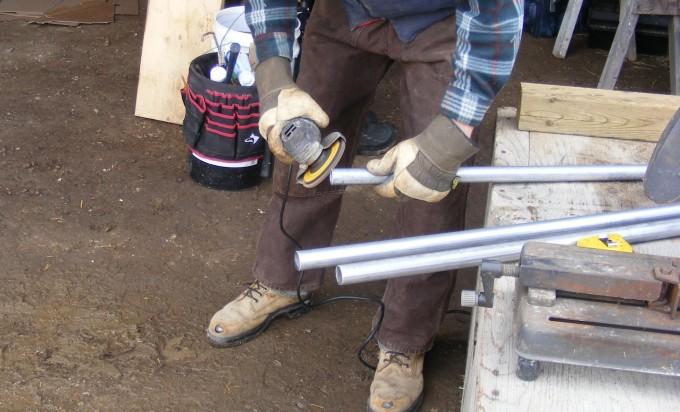 150401 grinding ridge pipe