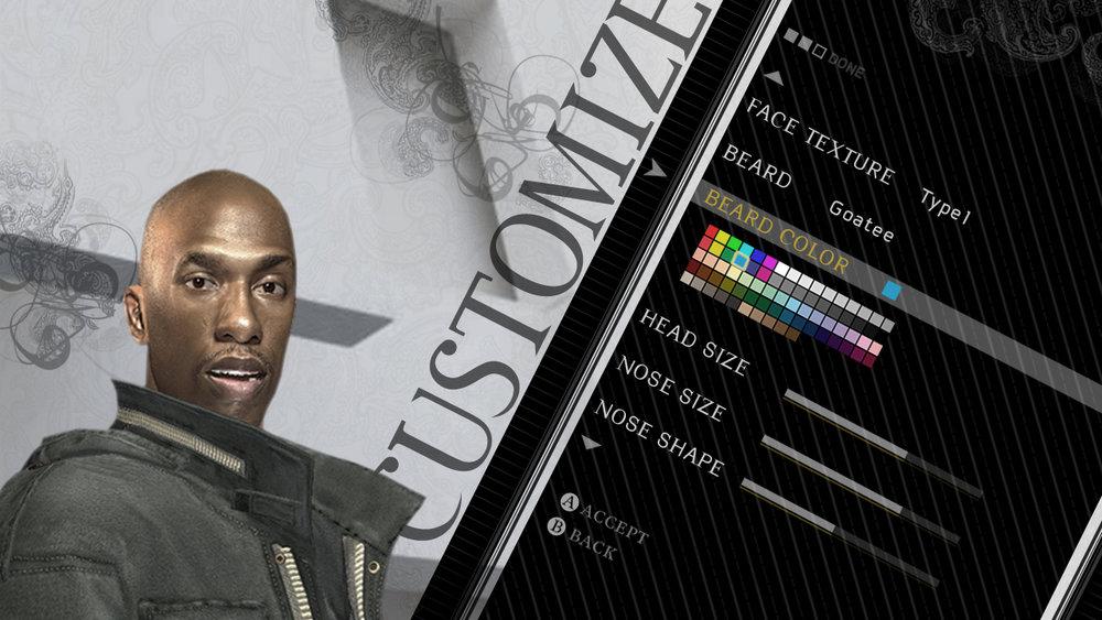 Player customization screen.