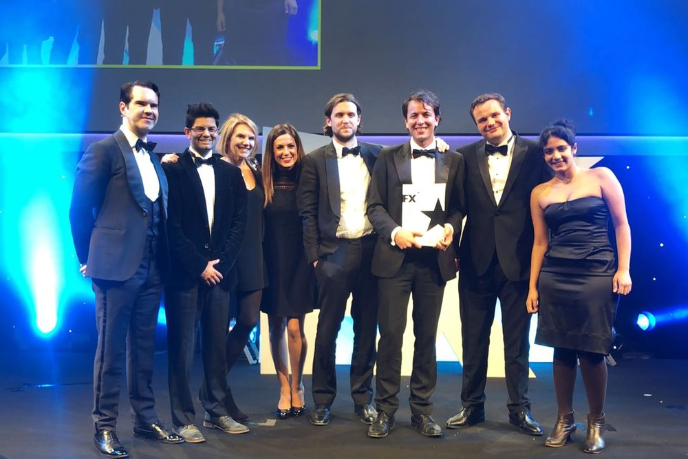 Breakthrough Talent 2017 Winners Mizzi Studio with Jimmy Carr at the International FX Design Awards.jpg