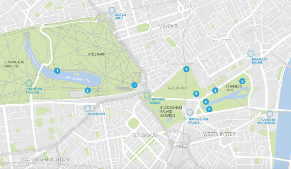 Map of kiosk locations The Royal Parks.png