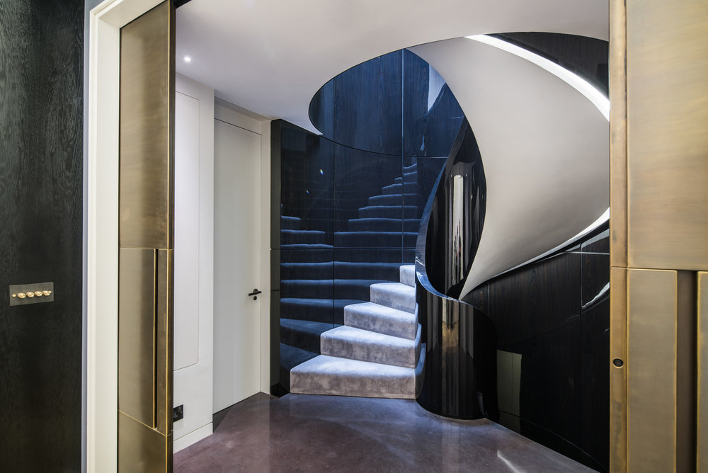 Helical Staircase, Mayfair, London, UK