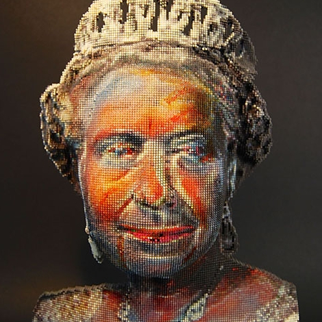 Pixelated Queen, digital sculpture