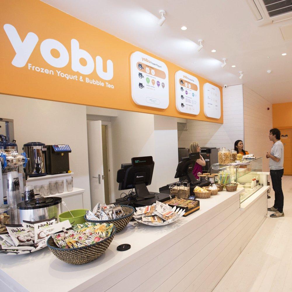 Yobu Frozen Yoghurt Brand Identity