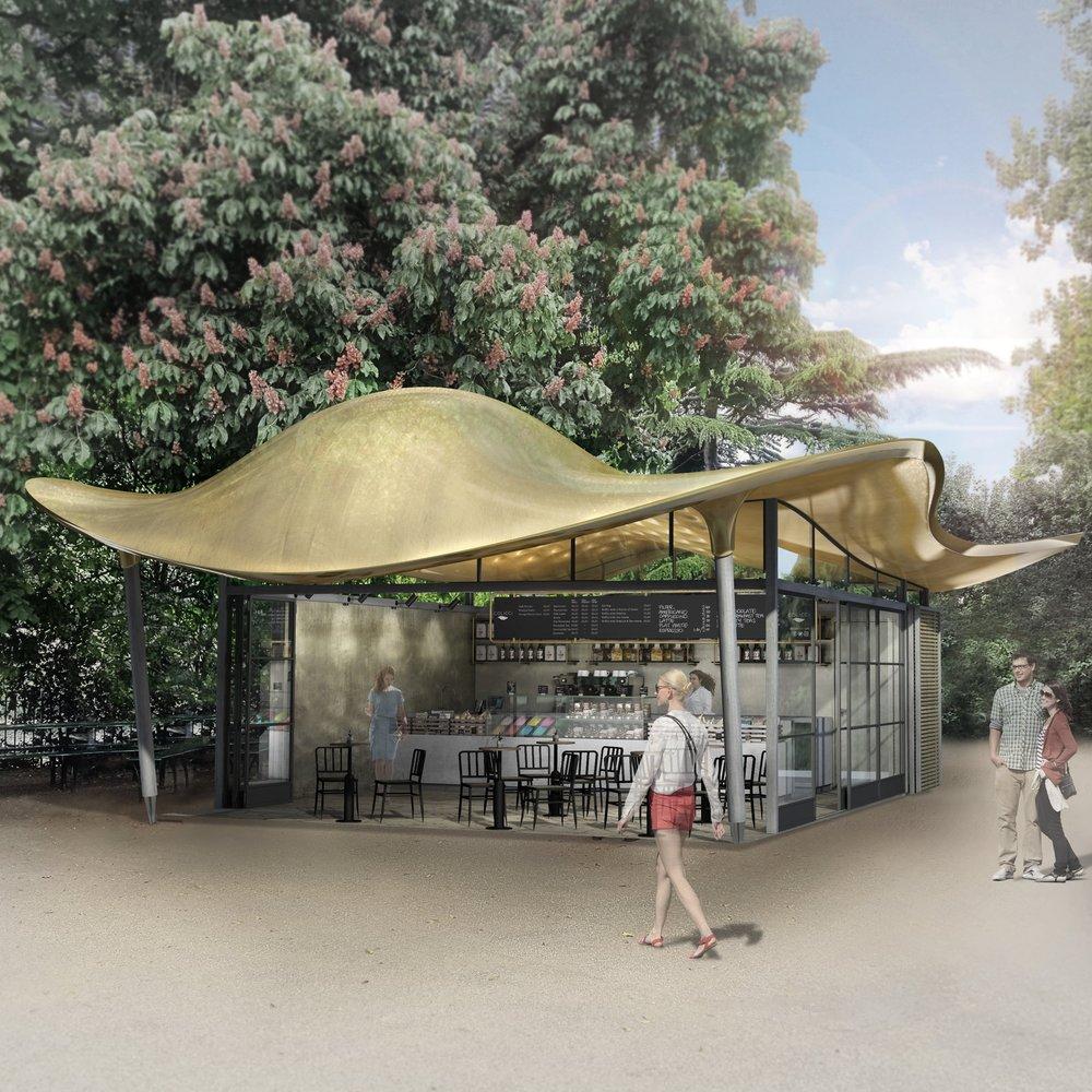Serpentine Coffee House, Hyde Park, London, UK