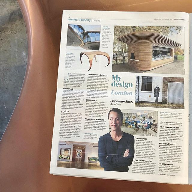 In this week's @evening.standard @eshomesproperty, Jonathan Mizzi, Director of @mizzistudio, shares his top London design and culture hotspots, favourite architecture and most coveted pieces. • His picks include @coaldropsyard @kewgardens @designmuseum @natural_history_museum @vamuseum @davidgillgallery @1stdibs @ronaradstudio @realmarcnewson • #jonathanmizzi #mizzistudio #mydesignlondon #eveningstandard #architect #designer #londondesign #londonarchitecture #london