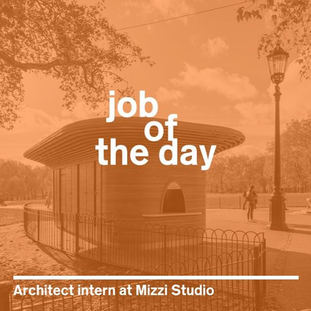 We're offering a 6-month paid internship to work with us on exciting architecture projects in London, and it's @dezeen's job of the day! Head to @dezeenjobs to apply now. ⠀⠀⠀⠀⠀⠀⠀⠀⠀⠀⠀⠀ #mizzistudio #architecture #london #internship #londonjobs #architecturejobs