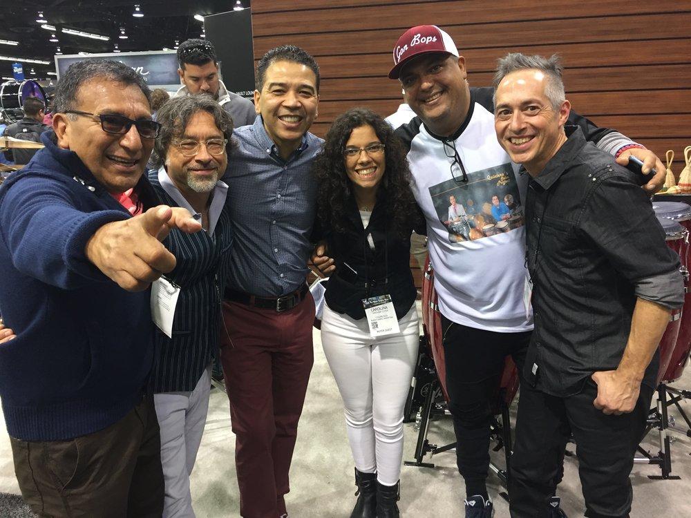 w/Alex Acuna, Luisito & Roberto Quintero, Carolina Cohen, Luis Cardoso