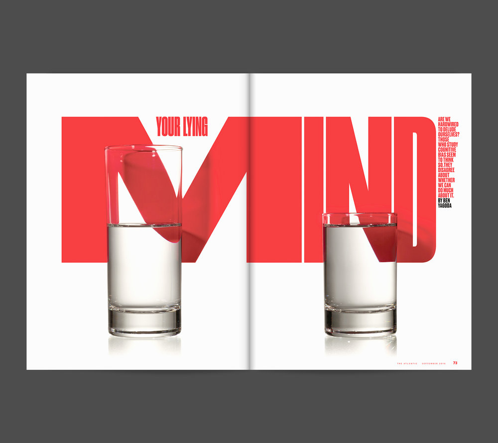 Your Lying Mind. The Atlantic Magazine. Concept by Delcan & Company. Photographed by The Voorhes.