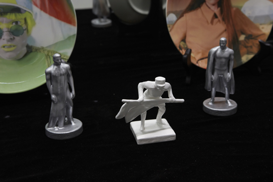 Tin Men Figurines & General Jinjur Figurine , 2017. Hand-painted porcelain.