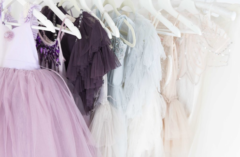 """Our """"Rainey's Closet"""" rental dresses for several special Mother Daughter shoots. Treat your daughter to tulle. Rainy's Closet has stylish affordable fashion rental dresses for your daughters photoshoot. Dresses are as little as $30 for 4 days."""