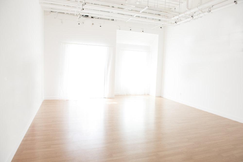 Our 800 square foot Portrait Studio.