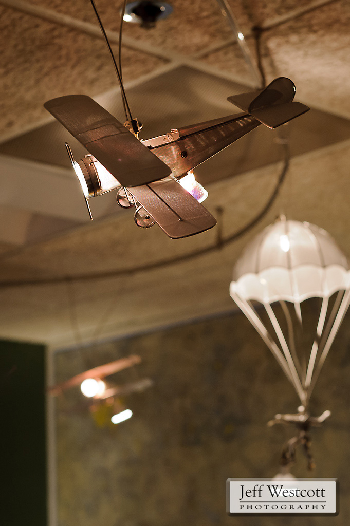 A fleet of model aircraft comprise a series of task lights that are both decorative and functional.
