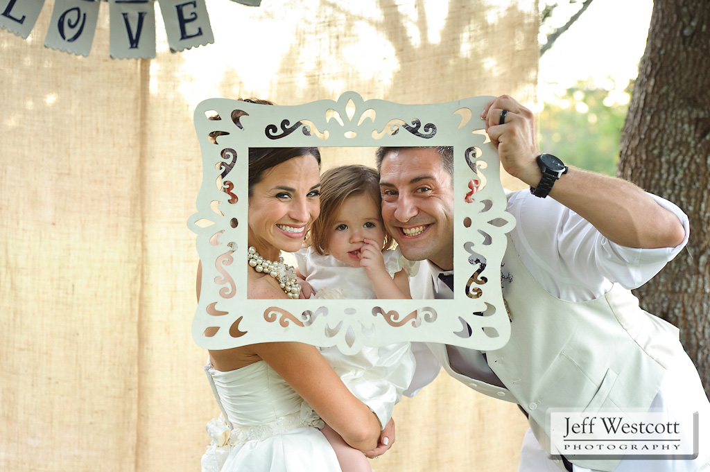 bride and groom - photo booth