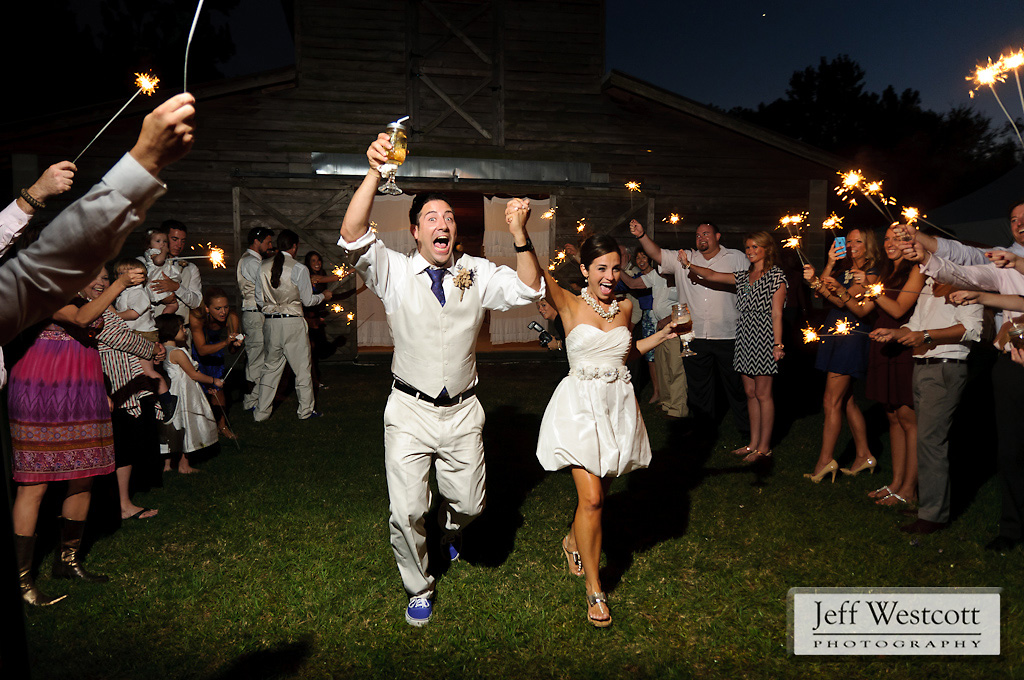 Sparkler shot wedding