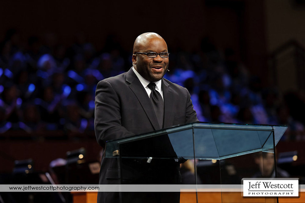 H.B. Charles preaches at the conference
