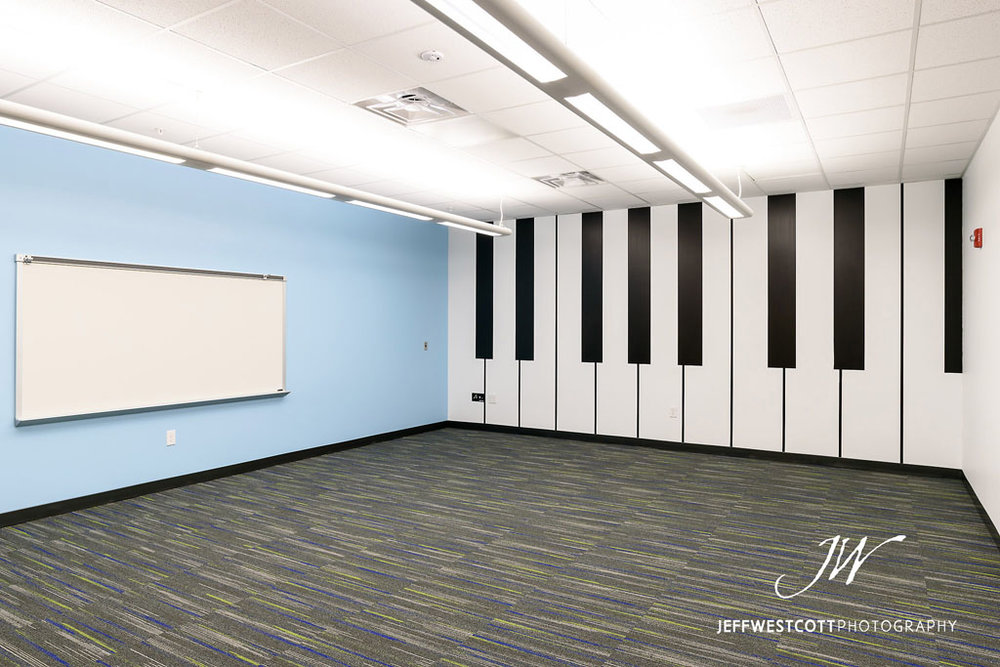 architectural interior photo Jacksonville Arlington Community Academy music room