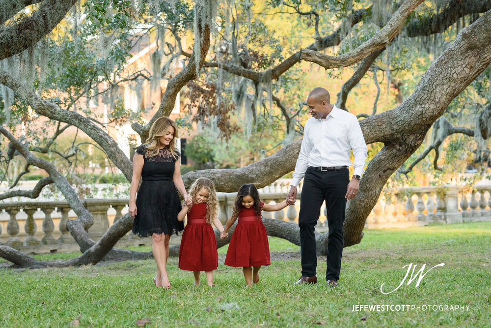 One of the things I like to do in family portrait sessions is get some photos where everyone is interacting with each other and not looking at the camera. This spot in Jacksonville's Riverside area was perfect for family pictures and just hanging out.