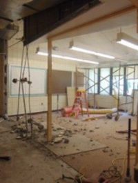 Classroom before construction construction
