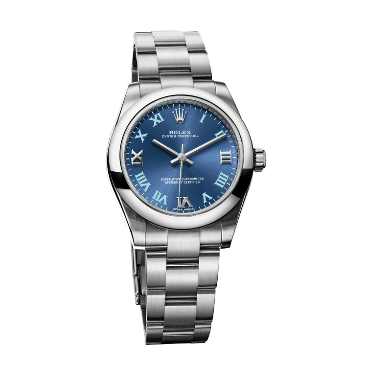 rolex-blue and steel