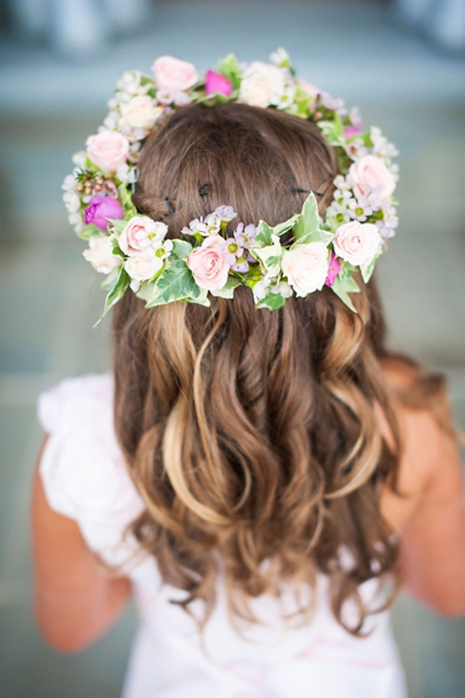 bridesmaid's flower crown