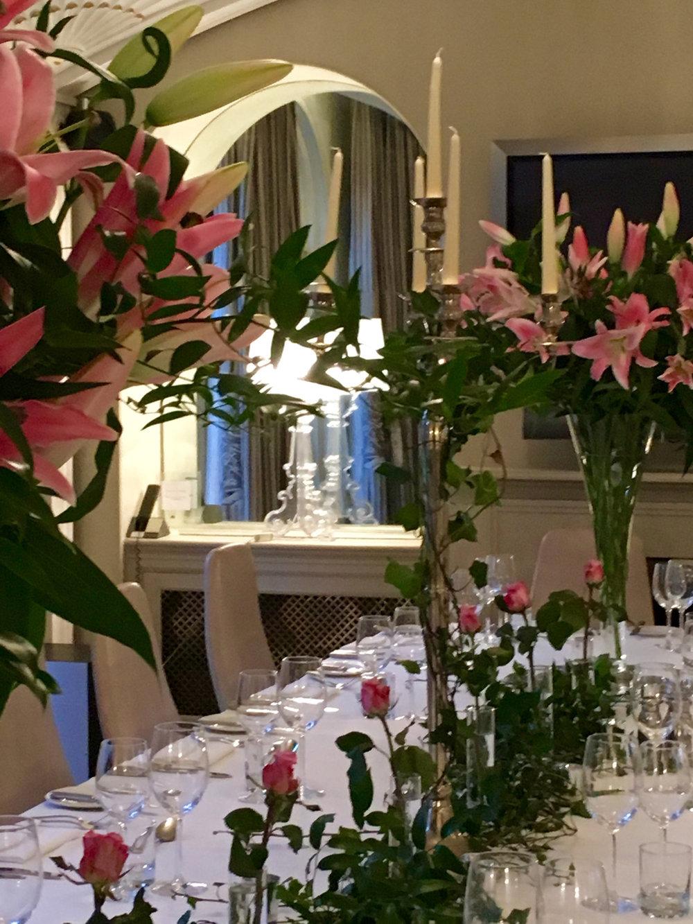 milsoms mr g's room. wedding reception