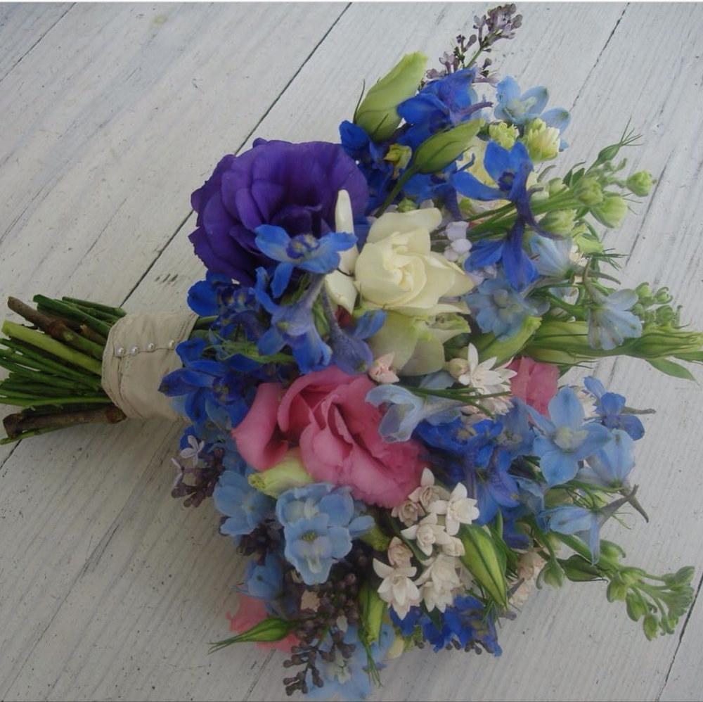 bouquet. delphiniums