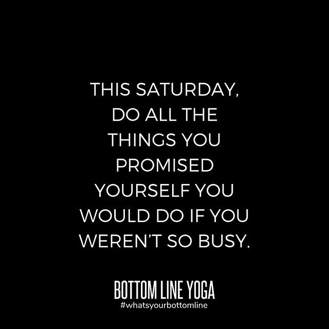 "Many of us spend all week in a chronic state of ""I'm too busy."" That means we often put the needs of others before our own. Make this Saturday all about your self-care! Start with a yoga class with @swilliams1412 at 10am or @lakee92 at 12pm, and then do all the other things you wanted to do all week but didn't because you deserve good things! * * * #whatsyourbottomline #bottomlineyoga #bottomline #becauseyoudeserveit #justsaying #yogaeverydamnday #yoga #chicagoyoga #yogachicago #chicagoyogacommunity #chicagoyogastudios #chicagoloop #westloopchicago #yogaintheloop #mybottomline #selfcare #saturday #🙏🏼"