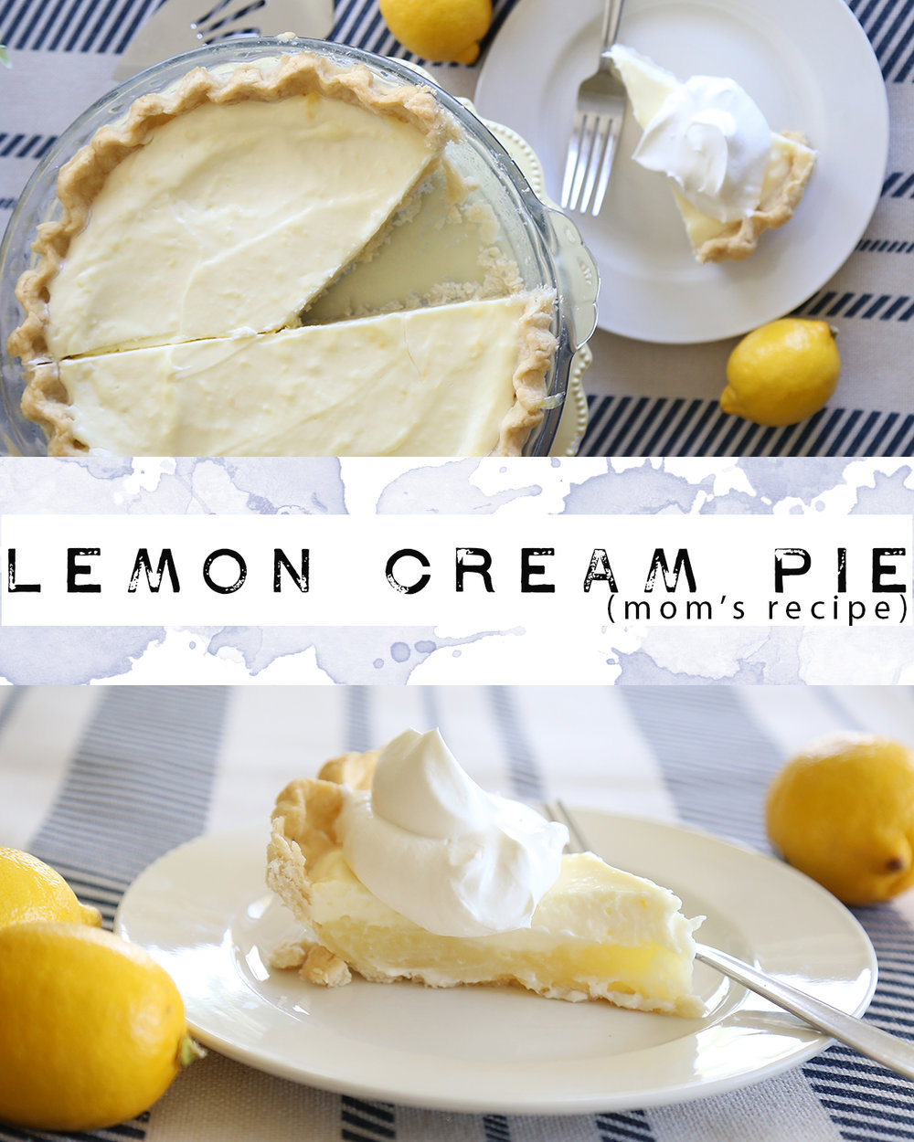 Lemon Sour Cream Pie Recipe