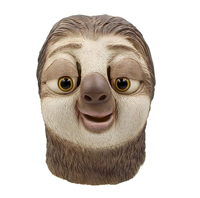 5. Sloth Mask - Can you imagine all the people you could sneak up on with this mask? It will be fought over for sure.