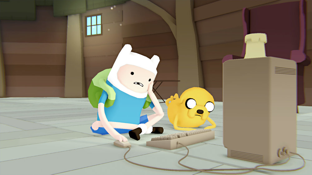 A Frame out of Cartoon Network's Show  Adventure Time: A Glitch is a Glitch  episode  - directed by David O'Reilly. His work can be found at http://www.davidoreilly.com/