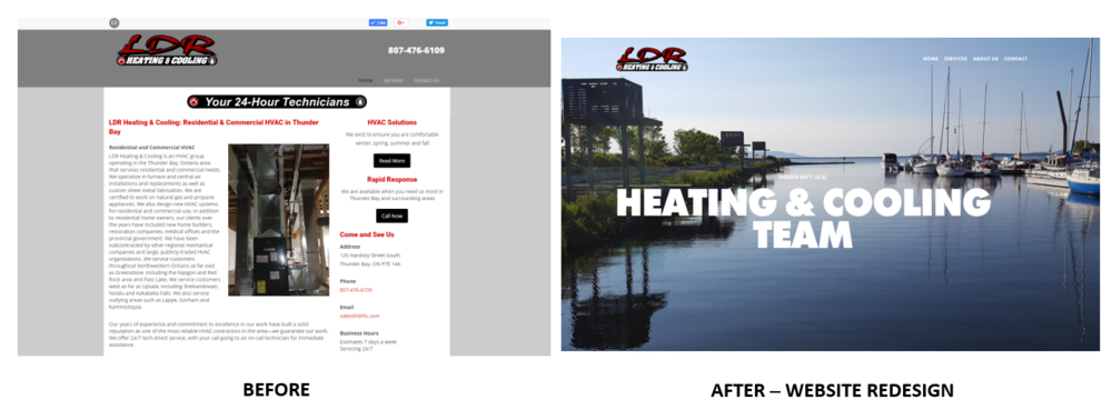 Before + After : Website Redesign
